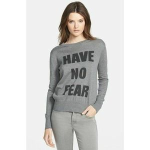Haute Hippie have no fear wool graphic sweater